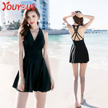 Yo swimming suit ladies soak hot spring conservative slim sexy Korean new style skirt-style large-size swimming suit in 2019