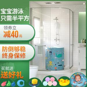 婴儿<span class=H>游泳池</span>家用新生幼儿童家庭大号宝宝小孩加厚保温游泳桶洗澡桶