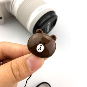 数码<span class=H>相机</span>镜头盖防丢绳布朗熊可妮兔莎莉熊本熊 黑熊 微单单反配件