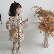 New Chiffon Fragmented Korean Children's Dresses for Girls in Spring Garment of 2019