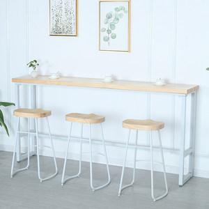 简约?#30340;?#21543;台桌靠墙餐桌窄桌咖啡厅高脚桌椅奶茶店铁艺吧台长条桌