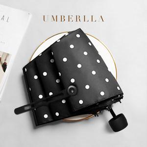 太阳伞防晒防紫外线波点森系复古遮阳伞雨伞女折叠晴雨两用五折伞