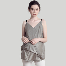 Summer radiation-proof clothes for pregnant women with genuine suspension straps inside and outside wearing belly pockets invisible clothes for working women during pregnancy