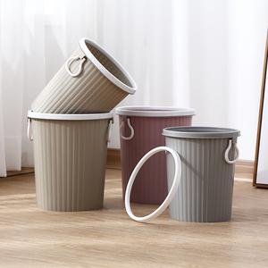 带压圈塑料<span class=H>垃圾桶</span>厨房客厅卧室办公室手提无盖纸篓家用大号垃圾篓