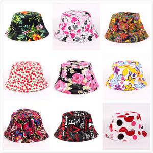女士小碎花遮阳帽太阳帽渔夫帽防紫外线盆帽防晒海滩帽