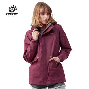 探拓新款冲锋衣三合一两件套女款立领外套抓绒<span class=H>内胆</span>全压胶防水保暖