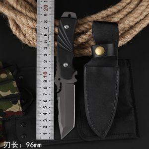 户外军刀荒野生存丛林野外求生<span class=H>刀具</span>中国防身武器长款战术特战直刀