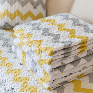 纯棉<span class=H>沙发垫</span>铺垫 绗缝防滑四季欧式简约布艺沙发盖巾套罩2019新款