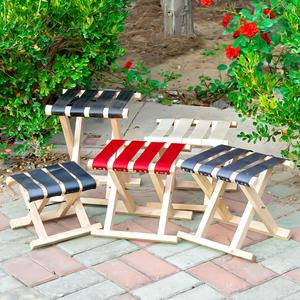 厂家直销实木便携式<span class=H>折叠凳</span>成人户外军工马扎钓鱼凳手提小板凳免邮
