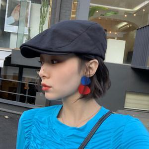 夏季薄款透气前进帽女士时尚<span class=H>贝雷帽</span>韩版潮复古鸭舌帽mona同款帽子