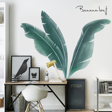 Ins green leaf plant STICKER WALL STICKER Nordic living room sofa background wall sticker decoration room wall paper self-adhesive