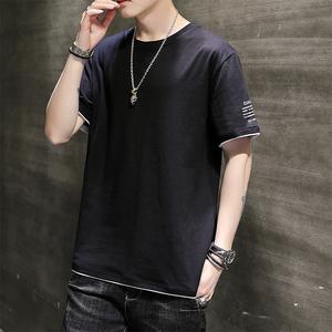夏季男士t恤短袖潮牌潮流纯棉衣服半袖2020新款男生体恤男装T