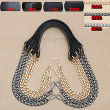Black Belt Hardware Chain Decompression Shoulder Belt Crossing Inclined Chain Hook Long Belt Leather Accessories