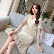 Zhang Xinzi net red suit women's new summer temperament, famous woman's jacket and skirt, two sets of French minorities are very immortal