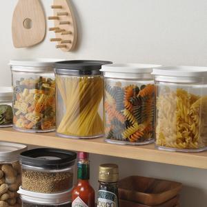 日本进口厨房密封储存罐五谷杂粮收纳盒豆类收纳罐干货防潮储物盒