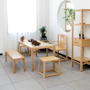 尚族工坊原创新中式茶桌椅组合禅意茶室<span class=H>家具</span>移动住宅<span class=H>家具</span>其他桌类
