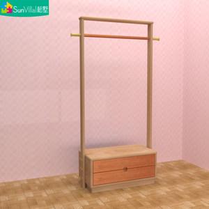 儿童<span class=H>衣帽架</span>成人衣架子全实木置物架落地迷你加粗卡通卧室多功能