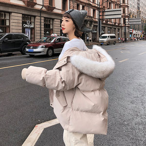 2018新款棉衣女潮中长款冬装女士ins面包服冬季羽绒<span class=H>棉服</span>外套棉袄