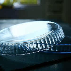 家用<span class=H>微波炉</span>专用玻璃器皿透明光波炉套装披萨烤<span class=H>盘</span>耐热菜<span class=H>盘</span>子圆形.