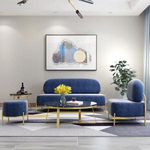 北欧布艺<span class=H>沙发椅</span>小户型组合创意茶几休闲经济单双三人轻奢现代简约