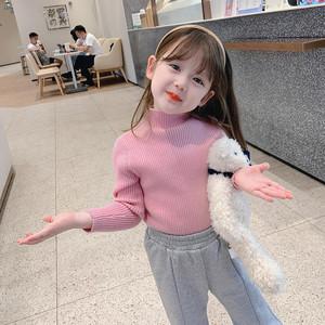 秋冬女童毛衣套头儿童毛衣男童装宝宝打底衫长袖保暖衣上衣毛线