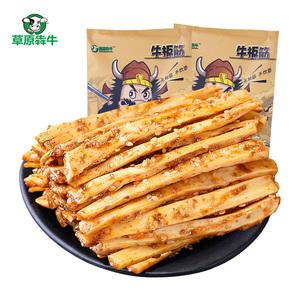 草原犇牛 牛板筋内蒙古特产香辣烧烤味牛板筋500g美味休闲零食