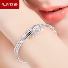 Genuine third-generation silver bracelet is a Korean version of Bracelet children's bracelet for girlfriend's Tanabata Festival.