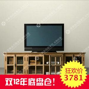 出口欧洲美国法式乡村仿古家具美式橡木实木餐边柜 <span class=H>电视柜</span> 储物柜
