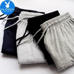花花公子男士短裤夏季五分裤休闲纯棉运动宽松沙滩裤七分爸爸外穿