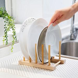 多功能竹架子沥水架碗盘碟子水杯控水超市实木收纳架小书架砧板架