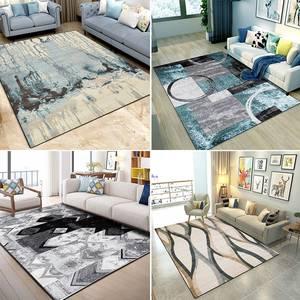 北欧客厅地毯<span class=H>沙发</span>茶几垫子简约现代卧室床边<span class=H>地垫</span>满铺可爱房间家用