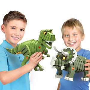 霸王龙3D立体<span class=H>玩具</span>EVA积木4-6岁益智儿童拼装插恐龙8男孩拼图模型