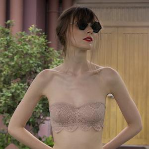 无肩带内衣聚拢夏季小胸薄款<span class=H>抹胸</span>防走光裹胸式女隐形胸贴防滑上托