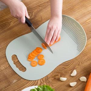 多功能沥水切<span class=H>菜板</span>厨房用品塑料小<span class=H>菜板</span> 家用切水果的砧板案板刀板