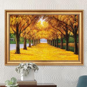 黄金满地装饰画<span class=H>油画</span>餐厅墙面壁画玄关走廊入户挂画客厅饭厅风景画