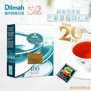 Dilmah迪爾瑪芒果<span class=H>草莓味</span>紅<span class=H>茶包</span>100片  果香紅茶<span class=H>茶包</span> 水果<span class=H>茶包</span>