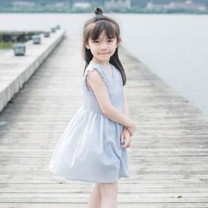 天天特价女童<span class=H>连衣裙</span>纯棉夏儿童裙子飞飞袖公主裙两件套含短裤棉纱