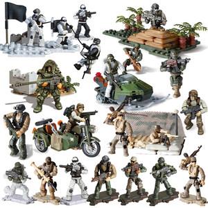 翔竣二战军事套装打仗<span class=H>玩具</span>小兵人士兵战争场景塑料模型手办动漫