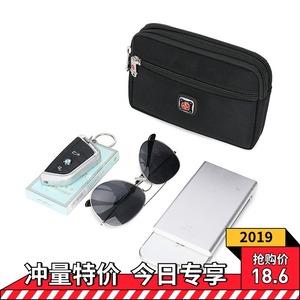 瑞士军刀户外手机腰包男穿皮带6寸7寸多功能运动腰包横款手机包袋