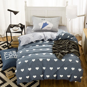 全棉三件套床上用品1.2m<span class=H>床单</span>被套卡通简约学生宿舍单人纯棉3件套
