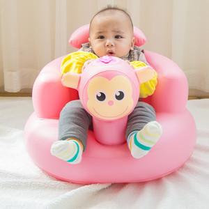 宝宝学座椅 儿童充气小沙发婴儿音乐学坐椅便携式<span class=H>餐椅</span>浴凳可折叠