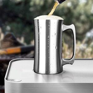 户外304不锈钢双层杯<span class=H>啤酒杯</span>子真空保温保冷咖啡杯家用水杯扎啤杯