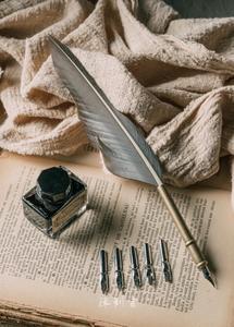 文艺鹅羽毛笔送闺蜜男女友情特别的蘸水笔英伦生日毕业纪念礼品