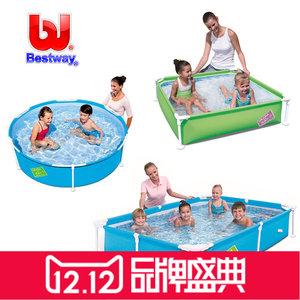 小方形支架家庭<span class=H>游泳池</span>婴幼儿童玩具戏水池户外摆摊加厚钓鱼养鱼池