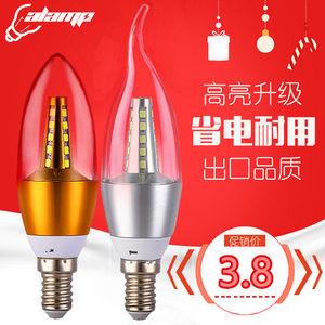 高亮<span class=H>LED</span>节能<span class=H>灯泡</span>e14小口蜡烛拉尾<span class=H>灯泡</span>尖泡3W5W7W9W12W水晶灯专用