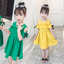 Girls'Dresses Summer Korean Version 2019 New Kids' and Girls'Skirts Westernized Children's Princess Skirts