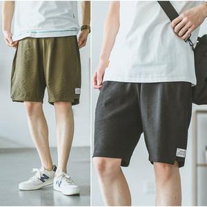 嘿马日系复古男士5分裤夏季潮牌港风运动沙滩裤五分裤<span class=H>短裤</span>