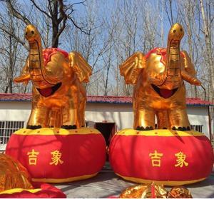 充气大象拱门金象气模3米4米5M婚庆开业庆典吉象卡通户外麒麟新款