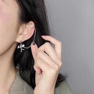 冷淡风复古丘比特天使星星珍珠耳夹网红套装耳坠<span class=H>耳钉</span>耳环耳饰仙女