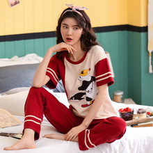 Dream is a new type of cotton pajamas for women in spring, autumn and Korean edition. Long sleeve pineapple can be worn in cotton household suit